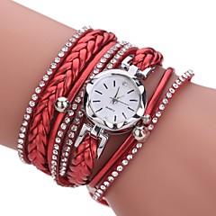 billige Armbåndsure-Dame Modeur Armbåndsur Simuleret Diamant Ur Kinesisk Quartz Imiteret Diamant PU Bånd Afslappet Bohemisk Elegant Sort Hvid Blåt Rød Pink