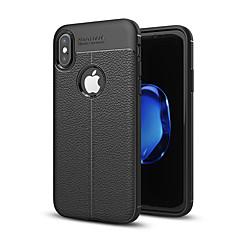 Недорогие Кейсы для iPhone 5-Кейс для Назначение Apple iPhone X / iPhone 8 / iPhone XS Защита от удара Кейс на заднюю панель Однотонный Мягкий Силикон для iPhone XS / iPhone XR / iPhone XS Max