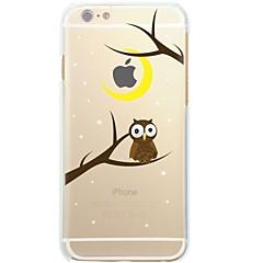Недорогие Кейсы для iPhone 4s / 4-Кейс для Назначение Apple iPhone X iPhone 8 Ультратонкий Прозрачный С узором Кейс на заднюю панель дерево Сова Мягкий ТПУ для iPhone X