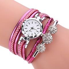 お買い得  大特価腕時計-女性用 クォーツ ダミー ダイアモンド 腕時計 ブレスレットウォッチ 中国 模造ダイヤモンド PU バンド カジュアル ボヘミアンスタイル Elegant ファッション ブラック 白 ブルー オレンジ ピンク