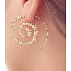 Kadın's Halka Küpeler Mücevher Kişiselleştirilmiş lüks mücevher alaşım Heart Shape Mücevher Uyumluluk Günlük Dışarı Çıkma