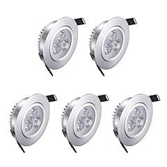 3w 200lm ciepłe białe latarki diodowe ac 85-265v 5 szt