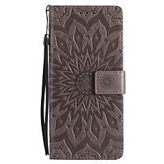 voordelige Galaxy Note 3 Hoesjes / covers-hoesje Voor Samsung Galaxy Note 8 Note 5 Kaarthouder Portemonnee met standaard Flip Reliëfopdruk Volledig hoesje Bloem Hard PU-nahka voor