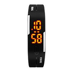 お買い得  レディース腕時計-SKMEI 女性用 リストウォッチ 日本産 デジタル 30 m 耐水 カレンダー クリエイティブ PU バンド デジタル カジュアル ファッション ブラック / ブルー / レッド - イエロー フクシャ レッド / LED