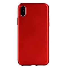 Назначение iPhone X iPhone 8 Чехлы панели Покрытие Задняя крышка Кейс для Сплошной цвет Мягкий Термопластик для Apple iPhone X iPhone 8
