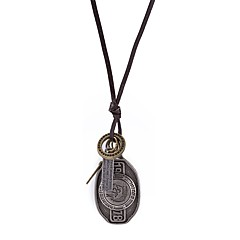 Муж. Ожерелья-бархатки Ожерелья с подвесками Бижутерия Геометрической формы Кожа Сплав Мода По заказу покупателя Бижутерия Назначение