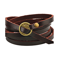 preiswerte Armbänder-Herrn Damen Lederarmbänder - Leder Personalisiert, Simple Style Armbänder Kaffee / Braun Für Normal Bühne