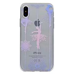 Недорогие Кейсы для iPhone 6-Кейс для Назначение Apple iPhone X iPhone 8 Полупрозрачный С узором Кейс на заднюю панель Соблазнительная девушка Мягкий ТПУ для iPhone X