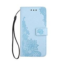 voor case cover kaarthouder portemonnee met statief flip magnetisch reliëf patroon full body case bloem kant druk hard pu leer voor