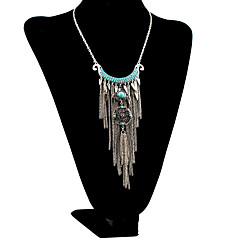 Women's Pendant Necklaces Layered Necklaces Circle Geometric Alloy Basic Tassel Personalized Bohemian Vintage Multi Layer Jewelry For
