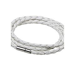 preiswerte Armbänder-Herrn Damen Lederarmbänder - Leder Simple Style, Modisch Armbänder Weiß / Schwarz / Kaffee Für Normal Ausgehen