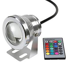 1adet hkv® rgb 10w 12v su altı ışık led 16 renk 24keys rgb denetleyici 1000lm su geçirmez ip68 çeşme havuz lamba aydınlatma