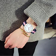 お買い得  メンズ腕時計-女性用 リストウォッチ クォーツ ナイロン バンド ハンズ ぜいたく ヴィンテージ カジュアル ブラック / ブラウン - ピンク ホワイト / レッド ネイビー / レッド / ホワイト