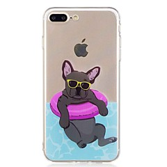 Voor iPhone 7 iPhone 7 Plus Hoesje cover Transparant Patroon Achterkantje hoesje Hond Zacht TPU voor Apple iPhone 7 Plus iPhone 7 iPhone
