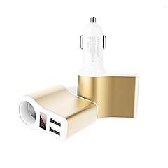 Недорогие Автоэлектроника-Быстрая зарядка Светодиодный дисплей Несколько портов 2 USB порта Только зарядное устройство DC 5V/3.1A