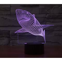 preiswerte USB Lampen-1 set 3D Nachtlicht USB / Batterie Dekorativ / Farbwechsel Künstlerisch / LED / Modern / Zeitgenössisch