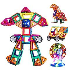 お買い得  子供のパズル-磁石式ブロック おもちゃ 三角形 DIY 新デザイン 男の子用 女の子用 108 小品
