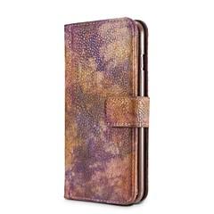 для чехлов крышка держатель карты кошелек ударопрочный с подставкой флип полный корпус корпус сплошной цвет твердая кожа pu для яблока