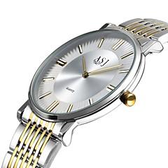 voordelige Dameshorloges-Dames Modieus horloge Dress horloge Polshorloge Japans Kwarts Grote wijzerplaat Roestvrij staal Band Informeel Elegant minimalistische Wit