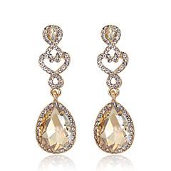 Damskie Kolczyki wiszące Rhinestone Akrylowy Stop Kropla Biżuteria Na Ślub Impreza