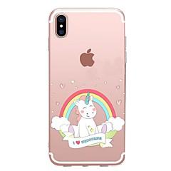 для крышки случая прозрачный тип задняя крышка случая единорог мягкий tpu для яблока iphone x iphone 8 плюс iphone 8 iphone 7 плюс iphone