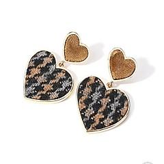 Жен. Серьги-гвоздики Серьги-слезки Бижутерия Мода Простой стиль Стерлинговое серебро Ткань В форме сердца Бижутерия Назначение