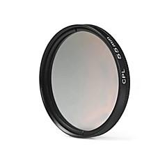 nikon canon sony dslrカメラ用55mm cplフィルターレンズ - 黒