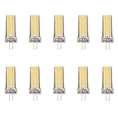 10pcs 4W G4 LED-lampor med G-sockel 1 lysdioder COB Varmvit Kallvit 80lm 6500/3500K AC 220-240V