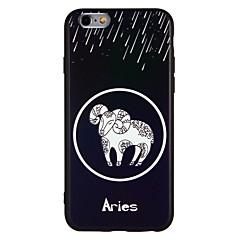 Кейс для Назначение Apple iPhone 7 iPhone 7 Plus Защита от удара Рельефный Задняя крышка Животное Мягкий TPU для iPhone 7 Plus iPhone 7