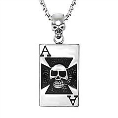 Муж. Жен. Ожерелья с подвесками В форме черепа Нержавеющая сталь По заказу покупателя Rock Бижутерия Назначение Праздники Для клуба
