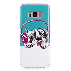 olcso Galaxy S6 Edge tokok-Case Kompatibilitás Samsung Galaxy S8 Plus S8 Foszforeszkáló IMD Minta Fekete tok Kutya Puha TPU mert S8 Plus S8 S7 edge S7 S6 edge S6