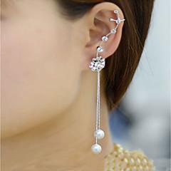 preiswerte Ohrringe-Damen Perle Quaste Ohrstecker / Klips - Perle, Strass Personalisiert, Modisch Gold / Silber Für Normal / Ausgehen