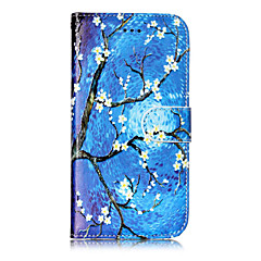 Недорогие Кейсы для iPhone 7-Кейс для Назначение Apple iPhone X iPhone 8 iPhone 8 Plus Бумажник для карт Кошелек со стендом Флип С узором Чехол дерево Твердый Кожа PU