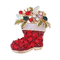 Dames Broches Synthetische Diamant leuke Style Chrismas Zirkonia Sieraden Sieraden Voor Kerstmis Uitgaan