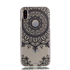 для крышки случая прозрачный тип задняя крышка случая mandala мягкая tpu для яблока iphone x iphone 8 плюс iphone 8 iphone 7 плюс iphone 7