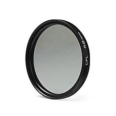 nikon canon sony dslrカメラ用58mm cplフィルターレンズ - 黒