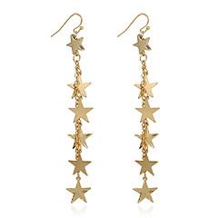voordelige Druppeloorbellen-Dames Druppel oorbellen Ring oorbellen Metallic Goud Legering Sieraden Voor Dagelijks Straat