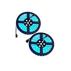 preiswerte LED Lichtstreifen-10m Flexible LED-Leuchtstreifen 600 LEDs 5050 SMD RGB Schneidbar / Wasserfest / Verbindbar 12 V 2pcs / IP65 / Selbstklebend / Farbwechsel