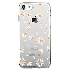 Недорогие Кейсы для iPhone-Кейс для Назначение Apple iPhone X iPhone 8 С узором Кейс на заднюю панель Плитка Цветы Мягкий ТПУ для iPhone X iPhone 8 iPhone 7 Plus