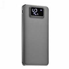 10000mAh power bank external battery 5 Battery Charger Flashlight Multi-Output QC 2.0 Super Slim LCD