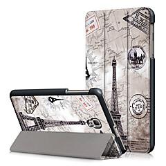 お買い得  タブレット用ケース-ケース 用途 Samsung Galaxy フルボディーケース タブレットケース エッフェル塔 ハード PUレザー のために Tab A 8.0 (2017)