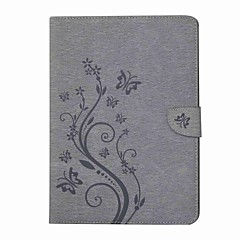 preiswerte Tablet-Hüllen-Hülle Für Samsung Galaxy Tab S2 9.7 Ganzkörper-Gehäuse Tablet-Hüllen Schmetterling Blume Hart PU-Leder für