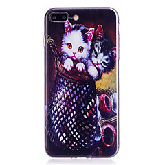 お買い得  iPhone 5S/SE ケース-ケース 用途 Apple iPhone X iPhone 8 Plus パターン バックカバー 猫 ソフト TPU のために iPhone X iPhone 8 Plus iPhone 8 iPhone 7 Plus iPhone 7 iPhone 6s Plus