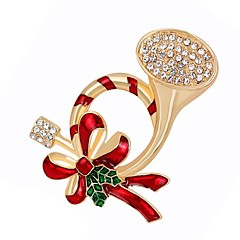 Dames Broches Synthetische Diamant Legering Sieraden Sieraden Voor Dagelijks Kerstmis