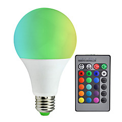 cheap LED Bulbs-10W 800 lm E27 LED Smart Bulbs A80 30 leds SMD 5050 Dimmable Decorative Remote-Controlled RGB+White AC85-265