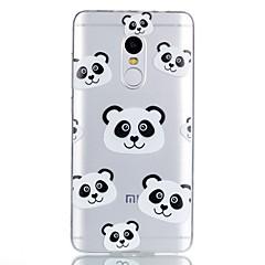 Недорогие Чехлы и кейсы для Xiaomi-Кейс для Назначение Xiaomi С узором Кейс на заднюю панель Панда Мультипликация Мягкий ТПУ для Xiaomi Redmi Note 4X Xiaomi Redmi Note 4