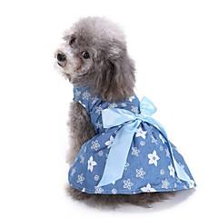 Γάτα Σκύλος Παλτά Φορέματα Smoching Ρούχα για σκύλους Πάρτι Στολές Ηρώων καουμπόη Καθημερινά Γάμος Άνθινο/Βοτανικό Μπλε
