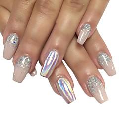 0.15g nagel kunst laset super shining silber pulver spiegeleffekt holographische laser pigment regenbogen laser pulver nagel gradienten