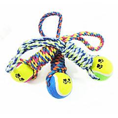 お買い得  猫用おもちゃ-犬 犬用おもちゃ ペット用おもちゃ 噛む用おもちゃ テニスボール コットン ペット用