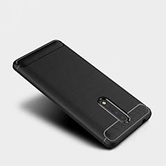 olcso Nokia tokok-Case Kompatibilitás Nokia Jeges Hátlap Tömör szín Puha Hőre lágyuló poliuretán mert Nokia 8 Nokia 6 Nokia 5 Nokia 3